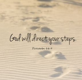God directs steps footsteps