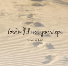 God directs steps footsteps