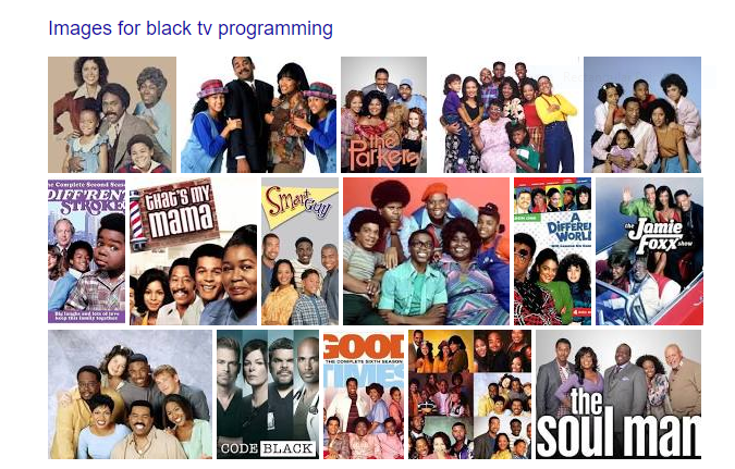 black tv programming images from Google