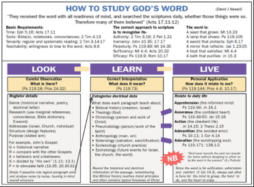 how to study Gods word