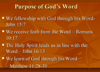 purpose of Gods word