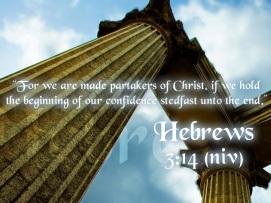 foundation of partaker in Christ Hebrews-3-14