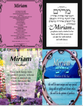 four Miriam name and meaning