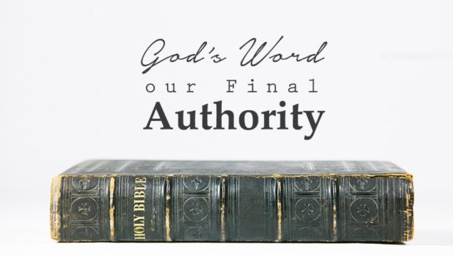 God word final authority