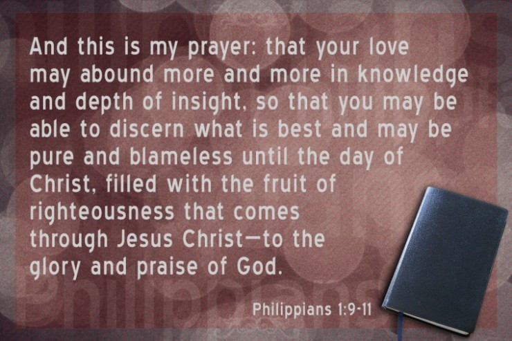 know God insight Philippians 1 and 9