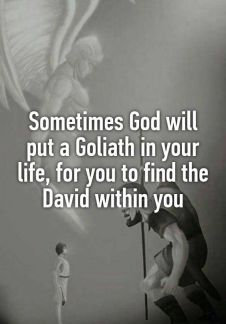 stable to be david when faced with goliath