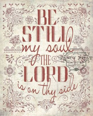 stable to be still in the lord