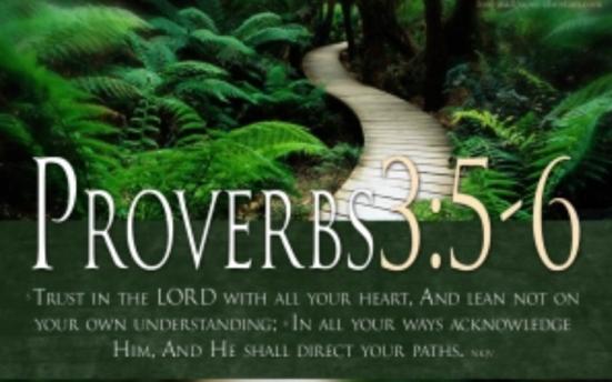trust God proverbs 3