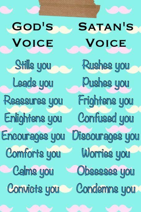 lies God voice versus satan lies