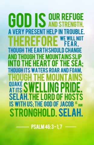 god loves us as our refuge and strength
