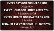 god loves you every day hour minute