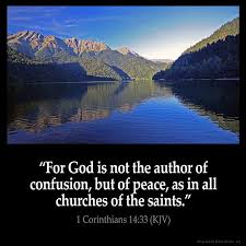 lies God is not the author of confusion