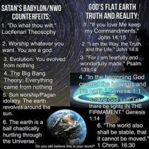 lies satan lies versus Gods truth in the world