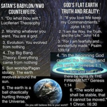 lies satan lies versus Gods truth in the world