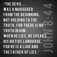 lies the devil lier from beginning