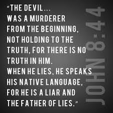 lies the devil lier from beginning
