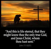 life eternal know God