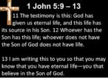 life eternal life in God through the son
