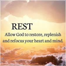 rest allows us to replenish