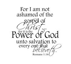 Testify For I am not ashamed