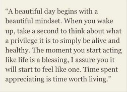 thankful for a beautiful day mindset