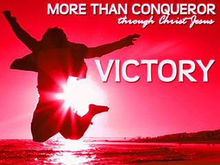thankful for being more than conquerors thru Jesus_red visual of woman jumping