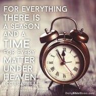 Time ecclesiastes3.1