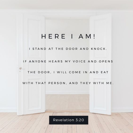 door here i am revelation 3 verse 20