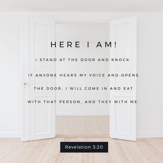 door here i am revelation 3 verse 20