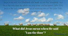 door jesus is shepherd to sheep
