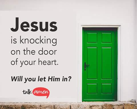 door jesus knockin at door of your heart will you let him in