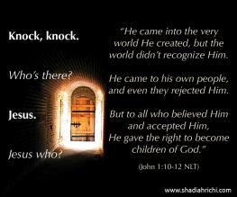door knock knock who is there jesus-at-door