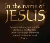Jesus in the name of