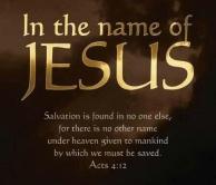 Jesus in the name of