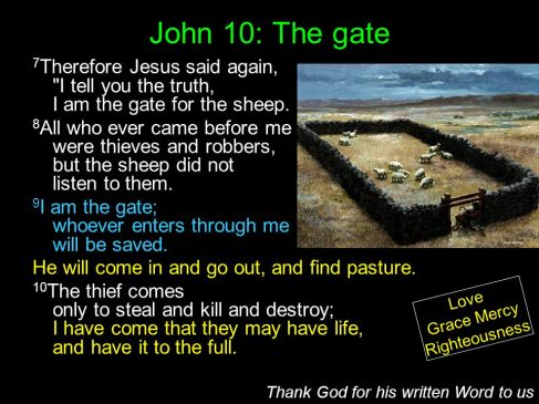 jesus john 10 image the gate