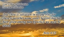 jesus salvation in no one else but jesus