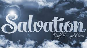 jesus salvation only through jesus in clouds