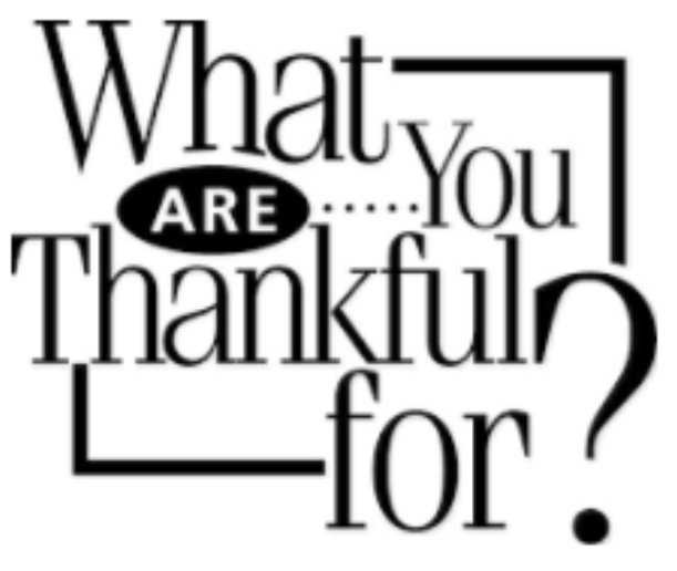 what are you thankful for