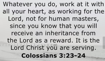 Colossians you will REAP